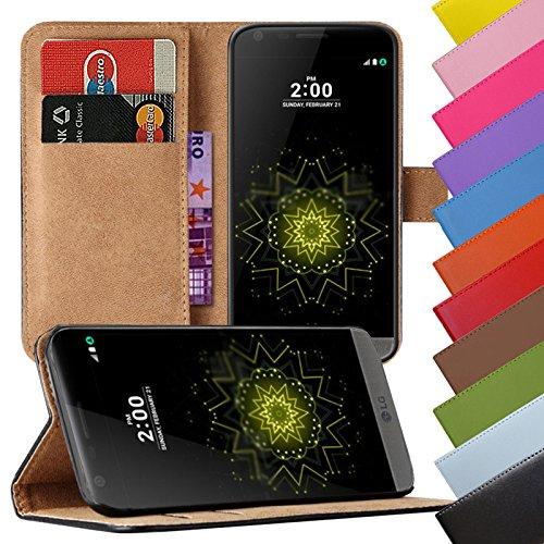 Eximmobile - Book Hülle Handyhülle für LG Stylus 2 mit Kartenfächer | Schutzhülle aus Kunstleder | Handytasche als Flip Hülle | Cover in Rot | Handy Tasche | Etui Hülle Kunstledertasche