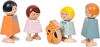 Anjetan Anjetan Family Doll Set Wooden Loving Early Childhood Small Family Figure Early Childhood Educational Wood Interac...