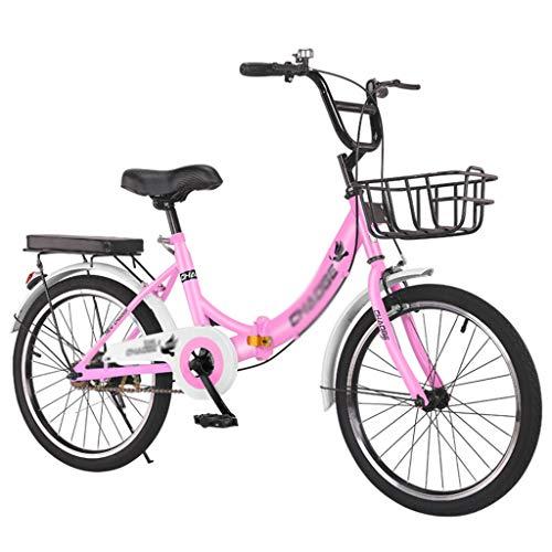 LYNNDRE Desplazamiento de Bicicletas Plegables para Estudiantes, Bicicletas Ligeras para Mujeres sin...