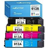 MyCartridge 4 Compatibili HP 913A 913 Cartucce di inchiostro Multipack per HP PageWide Pro MFP 377dw 377dn 477dw 477dn 477dw 452dn 452dw 452dwt 352dw (Nero/Ciano/Magenta/Giallo)