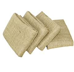 VALUE PACK: Package contains four potato sack bags. Each sack measures 24x39 inches approximately. ECO FRIENDLY: 100% All Natural Jute Fabric. HIGH QUALITY: Constructed with Biodegradable, Strong, Sturdy, Durable and Breathable fibers. VERSATILE: Can...