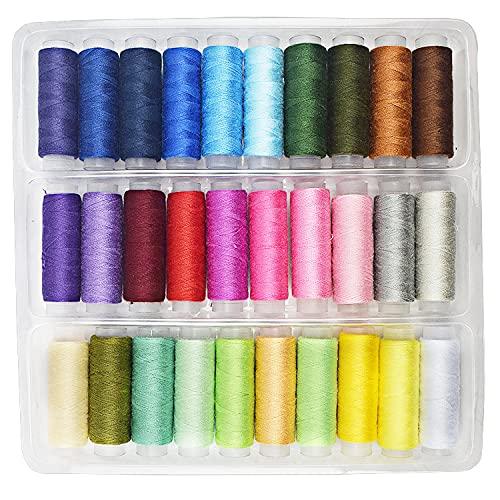 糸 ミシン糸 30色セット みしんいと 手縫い糸 セット 裁縫 手芸 刺繍用糸 家庭用