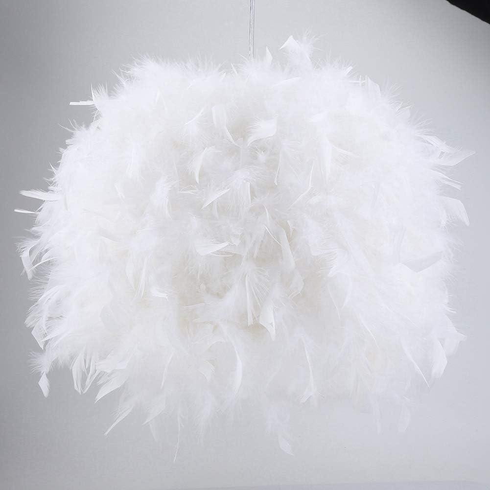 Rosa M Queen.Y L/ámpara Colgante con Luz Colgante de Plumas Pantalla Ligera para Sala de Exposiciones Sala de Estar 110-240V