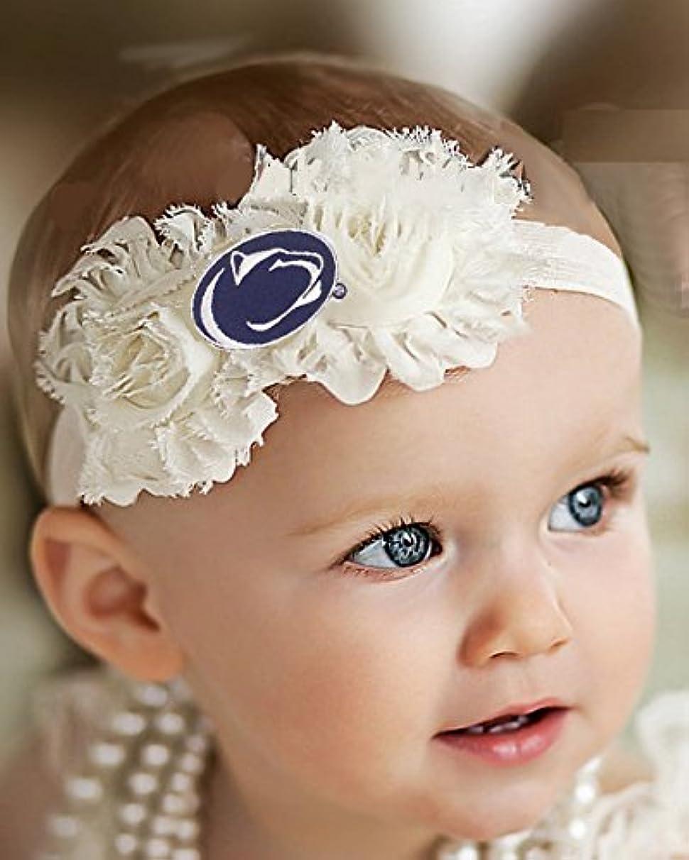 Future Tailgater Penn State Nittany Lions Baby/Toddler Shabby Flower Hair Bow Headband