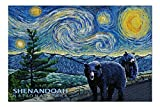 Shenandoah National Park, Virginia - Starry Night - 1000 Piece Jigsaw Puzzles for Adults Kids, Puzzles for Toddler Children Learning Educational Puzzles Toys for Boys and Girls 20' x 30'