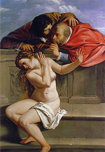 "Artemisia Gentileschi Susanna and The Elders 1610 Private Collection 30"" x 21"" Fine Art Giclee Canvas Print (Unframed) Reproduction"