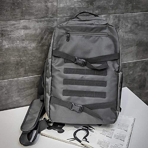 ghjg Sac à Dos Occasionnel Grande Capacité High School Student Bag Men's Travel Backpack Backpack Backpack Backpack Homme Gris foncé - Quads