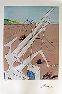 Wall Art by Salvador Dali Conquest Of The Cosmos Martian Dali Limited Edition Signed Lithograph Print. After the Original Painting or Drawing. Paper 34 Inches X 22 1/2 InchesImages Measures 30 Inch