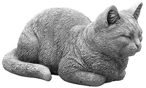 gartendekoparadies.de Massive Steinfigur Katze Raumdeko Gartendeko aus Steinguss frostfest