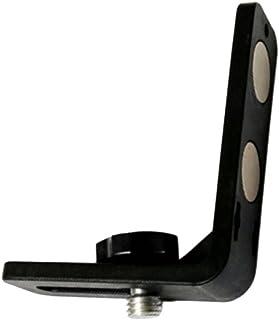 BORKAレーザー墨出し器用L型ブラケットレーザーレベル 保持器 5/8インチネジ 縦位置 強マグネット (ブラック)