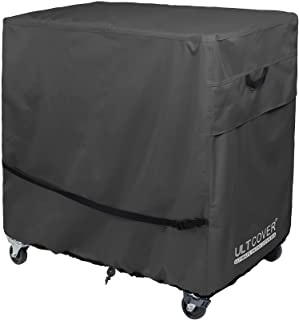 ULTCOVER Waterproof 65-80 Quart Patio Cooler Cart Rolling Ice Chest Cover 32L x 18W x 32H inch, Black