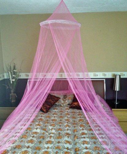 A-Express Moskitonetz Baldachin Mückennetz Betthimmel mit Einem Eingang romantischer Schutz vor Insekten Schlafzimmer Fliegennetz 2.5m...