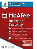 McAfee Internet Security 2021, 3 Dispositivos, 1 Año, Software Antivirus, Manager de Contraseñas, Seguridad Móvil, PC/Mac/Android/iOS, Edición Europea, Código por Correo