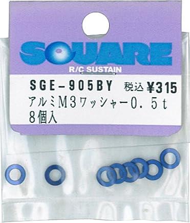 アルミM3ワッシャー 0.5t ヨコモブルー SGE-905BY