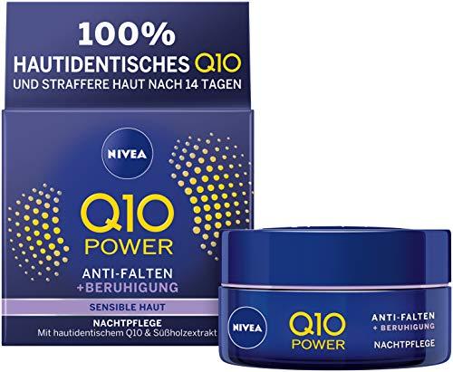 Nivea Q10Power anti-arrugas + Reducir sensibilidad de noche para rejuvenecedora Cuidado, feuchtigkeitsspendende Crema, 50 ml