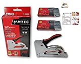 KROST Kangaro Miles Ts-2380A Gun Tacker Staple Gun With 2000 Staples (Red)