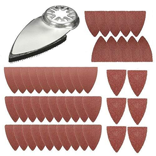 Best Prices! better18 Finger Oscillating Multi Tool Sanding Triangular Finger Pads Kits Sanding Pads Accessories Kits for Fein Multimaster, Milwaukee, Chicago, Craftsman