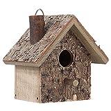 Finch Birdhouse, casa de Madera para Colgar al Aire Libre, Caja de Nido de pájaros Silvestres, a Prueba de Humedad para pájaros pequeños, gorriones, herrerillo Azul