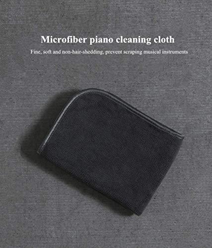 JIAXIA Productos de Limpieza Paño de Limpieza de Microfibra para Piano Sin rasguños Paño de Limpieza de Instrumentos Sin Rastro Superficie de Espejo Toalla Servilleta 0.2μmNegro
