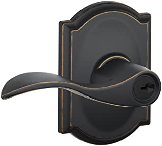 Schlage F51 Acc 716 CAM Camelot Collection Accent Keyed Entry Lever, Aged Bronze