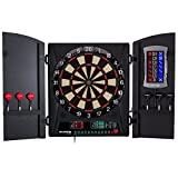 Best Electronic Dart Boards - Bullshooter Cricket Maxx 1.0 Electronic Dartboard Cabinet Set Review