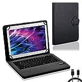 NAUC Tasche Tastatur für Medion Lifetab S10321 Hülle Schutzhülle Cover Case Bluetooth