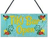RED OCEAN Tiki Bar Open Hanging Bar Pub Plaque Beer Cocktails Beach Decoration Sign Friendship Gift