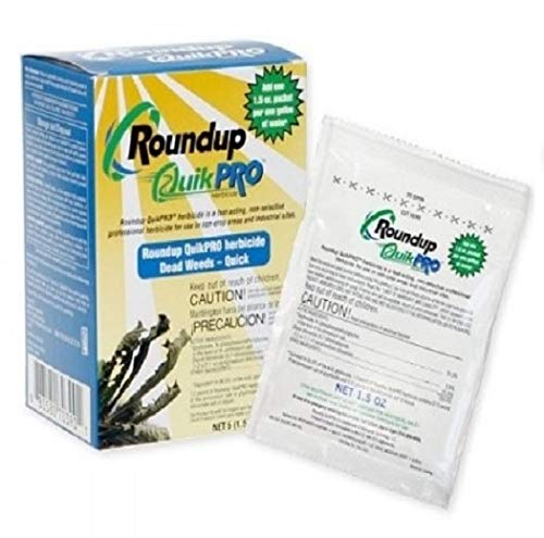 Roundup QuikPro Weed Killer HERBICIDE 73.3% QuickPro 1 Packet per Gallon 10 pack