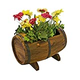 PierSurplus Wooden Whiskey Barrel Flower Planter Product SKU: PL50021