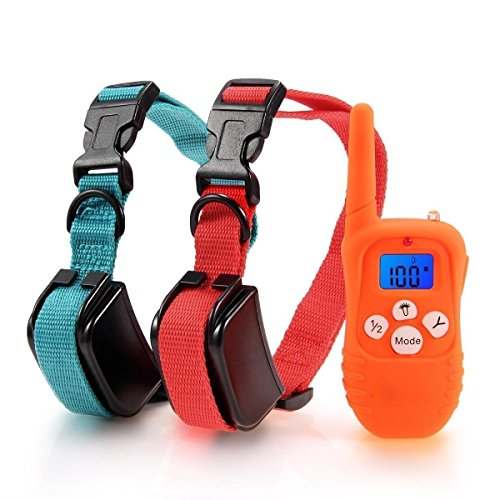 Mega Power 330 Yards Remote Dog Training Collar Rechargeable E-Collar with Beep/Vibration/Shock Electronic Electric Collar with Visible Silicone Buttons