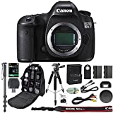 Canon EOS 5DS R Professional DSLR Camera + 64GB SDXC Memory Card + Extra LP-E6 Battery + SD Card Reader + Pro Camera Case + IR Remote + Monopod - International Version (No Warranty)