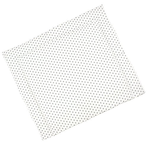 Sugarapple Wickelauflage 85 x 75 cm ca. 3 cm dick mit Oberstoff aus 100% Baumwolle, innen weich und warm wattiert, doppelt abgesteppte Nähte und machinenwaschbar, Sterne grau