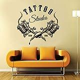 Tienda de tatuajes, letrero de estudio, pegatinas de pared, calcomanía de ventana fresca, arte, publicidad, venta al por menor y decoración de tienda, papel tapiz A9 61x57cm