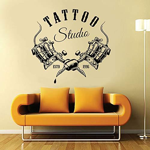 Tienda de tatuajes, letrero de estudio, pegatinas de pared, calcomanía de ventana fresca, arte, publicidad, venta al por menor y decoración de tienda, papel tapiz A1 61x57cm