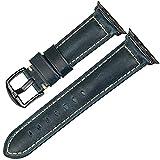 LGFCOK Cinturino in pelle vintage a forma di mucca per orologio da 44 mm, 40 mm, 42 mm, 38 mm, 6 SE 5 4 3, colore rosso B, larghezza cinturino: per Apple Watch 38 mm
