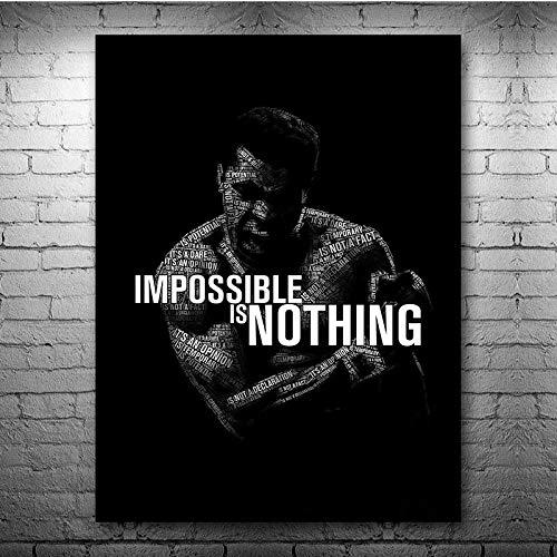 Boxing King Boxer Ali-Haj Fight SpiritInspirational GYM Fitness Deportes Lienzo Pintura Arte de la pared Póster Dormitorio Club Estudio Decoración para el hogar Mural