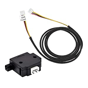 Creativity 3D Printer Filament Detection Sensor Module Filament Run-Out Pause Detecting Monitor for 3D Printer Lerdge Board 1.75mm Filament (Black)