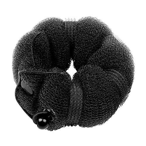 Benrise Tocado para la cabeza de oruga herramienta para el pelo donut brote cabeza artefacto albóndiga, juego de 2 piezas