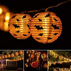 🎃Best Halloween Decoration Lights: Unique Halloween pumpkin lantern design, 10 led 7ft string light creates a magical and spooky ambiance for Halloween, it looks like some Pumpkin elves in your yard. Perfect Halloween Decoration makes a special Hallo...
