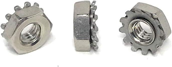 #8-32 Stainless Steel K-Lock Keps Loc Japan Maker New 100 Nuts K PCS Spring new work