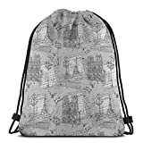 fgjfdjj Monocromo río Sena Notre Dame Palomas escenas Libros de Viaje Camping Estudiantes Mochila Escolar Cuerda para niño niña Hombre Mujer