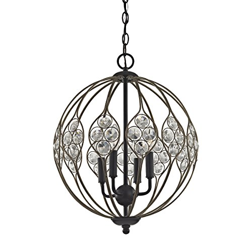 ELK Lighting 81107/4 Chandelier, One Size, Bronze