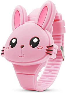 Kids Watch,Girls Watch Digital Cute Shape LED Fashion Silicone Band Clamshell Design Wrist Watch Girl Gifts