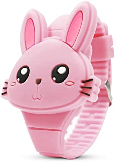 Kids Watch,Girls Watch Digital Cute Rabbit Shape LED...