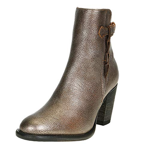 Corral Boot Company Womens Strap Ankle Bootie 8 Narrow Silver