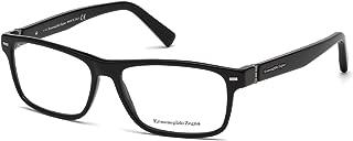 ERMENEGILDO ZEGNA EZ5073-001 ACETATE EYEGLASS FRAME Black, 57MM