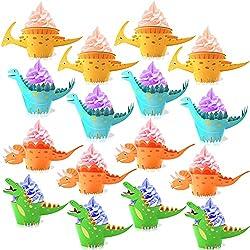 2. Konsait Little Dino Cupcake Toppers Cake (48 Pack)