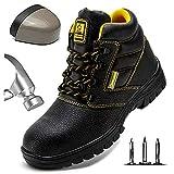 HOAPL Hombres Zapato Seguridad Zapatos Trabajo con Punta de Acero Transpirables Zapatillas Deportivas Ligeras Anti-Piercing Antideslizante Zapatillas de Senderismo Calzado de protección,40