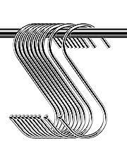 30-pack S-krokar kraftig metall S-formade krokar verktygshängare för köksredskap kontor badrum garderob verkstad garage kontor hushåll hem viktiga set