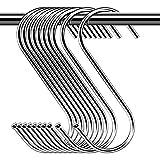 30 Paquete Ganchos en Forma de S , S Ganchos Cocina Metal Acero Inoxidable ganchos para el gabinete de la Cocina Oficina...